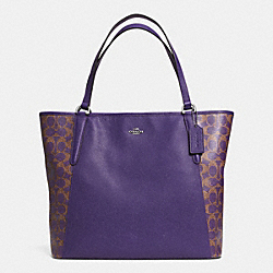 COACH BAILEY TOTE IN SAFFIANO LEATHER - SILVER/VIOLET/VIOLET - F33480