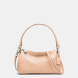 COACH F33521 Embossed Horse And Carriage Charley Crossbody In Pebble Leather  LIAPR