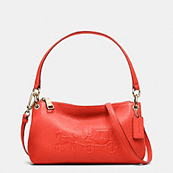 COACH F33521 - EMBOSSED HORSE AND CARRIAGE CHARLEY CROSSBODY IN PEBBLE LEATHER LIWM3