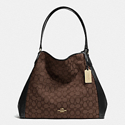 COACH F33523 - EDIE SHOULDER BAG IN SIGNATURE LIAA8