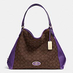 COACH F33523 Edie Shoulder Bag In Signature  LIDK7