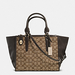 COACH F33524 - CROSBY CARRYALL IN SIGNATURE LIGHT GOLD/KHAKI/BROWN