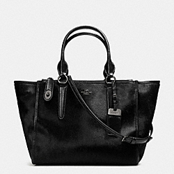 COACH F33535 Crosby Carryall In Haircalf ANTIQUE NICKEL/BLACK