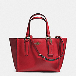 COACH F33537 Crosby Mini Carryall In Smooth Leather LIGHT GOLD/RED CURRANT