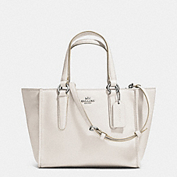 COACH F33537 - CROSBY MINI CARRYALL IN SMOOTH LEATHER  SILVER/CHALK