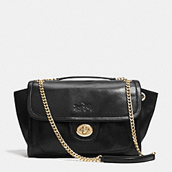 COACH F33544 - LARGE RANGER FLAP CROSSBODY IN LEATHER  LIGHT GOLD/BLACK