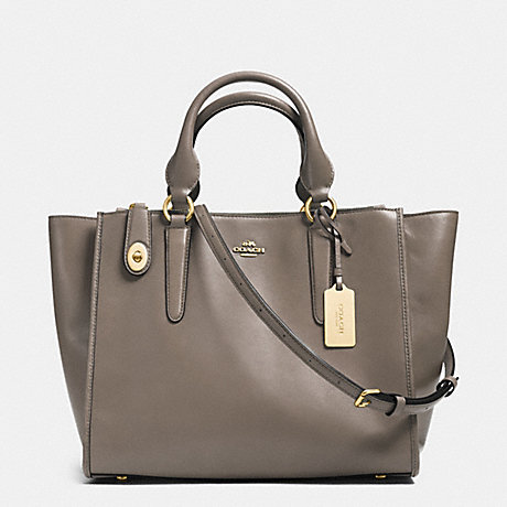 COACH f33545 CROSBY CARRYALL IN SMOOTH LEATHER FOG