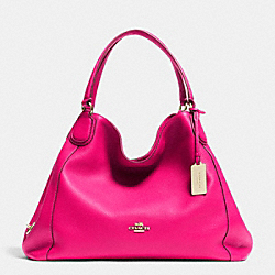 COACH F33547 Edie Shoulder Bag In Leather  LIGHT GOLD/PINK RUBY