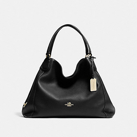 COACH f33547 EDIE SHOULDER BAG BLACK/LIGHT GOLD