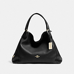 COACH F33547 - EDIE SHOULDER BAG BLACK/LIGHT GOLD