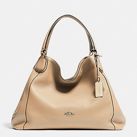 COACH f33547 EDIE SHOULDER BAG IN PEBBLE LEATHER NUDE
