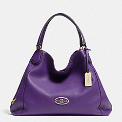COACH F33547 - EDIE SHOULDER BAG IN LEATHER  LIGHT GOLD/VIOLET