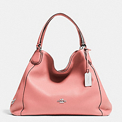 COACH F33547 Edie Shoulder Bag In Leather SILVER/PINK