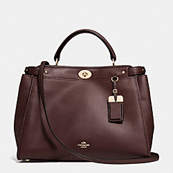 COACH F33549 Gramercy Satchel In Leather VAOXB