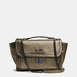 COACH F33553 - RANGER FLAP CROSSBODY IN METALLIC LEATHER  VA/BRASS