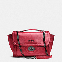 COACH F33553 - RANGER FLAP CROSSBODY IN METALLIC LEATHER  VA/RED