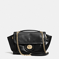 COACH F33566 - RANGER FLAP CROSSBODY IN LEATHER  LIGHT GOLD/BLACK