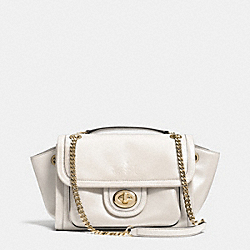 COACH F33566 - RANGER FLAP CROSSBODY IN LEATHER  LIGHT GOLD/CHALK