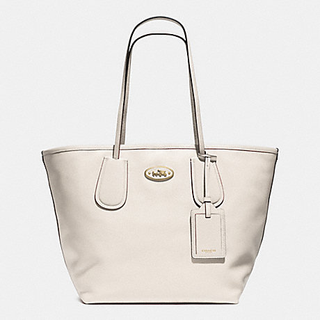 COACH f33581 COACH TAXI TOTE 28 IN LEATHER  LIGHT GOLD/CHALK