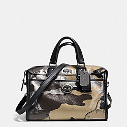 COACH F33629 Rhyder 24 Satchel In Camo Print Metallic Leather  QBMTI