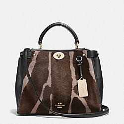 COACH F33633 - MINI GRAMERCY SATCHEL IN PRINTED HAIRCALF  LIDHX