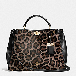 COACH F33640 - GRAMERCY SATCHEL IN PRINTED HAIRCALF  LIGHT GOLD/BROWN MULTI