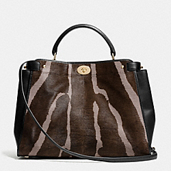 COACH F33640 Gramercy Satchel In Printed Haircalf  LIDHX