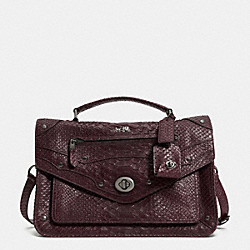 RHYDER MESSENGER IN PYTHON EMBOSSED LEATHER - f33677 - QBOXB