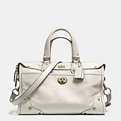 COACH F33689 Rhyder Satchel In Leather LIGHT GOLD/CHALK