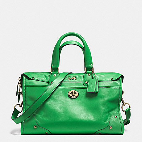 RHYDER SATCHEL IN LEATHER - COACH F33689 - LIGRN