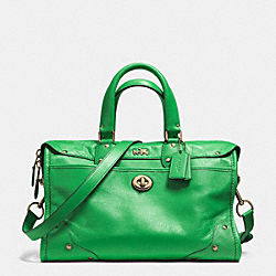 COACH F33689 Rhyder Satchel In Leather LIGRN