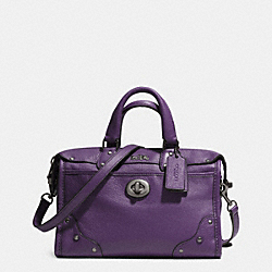 COACH F33690 Rhyder 24 Satchel In Leather QBVIO