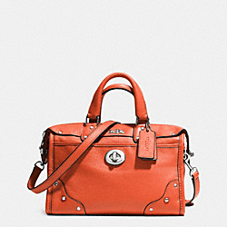 COACH F33690 - RHYDER 24 SATCHEL IN LEATHER SILVER/CORAL