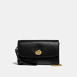 COACH F33701 - CHAIN CROSSBODY BLACK/LIGHT GOLD