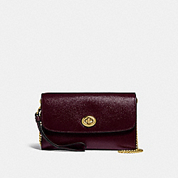 CHAIN CROSSBODY - f33701 - oxblood 1/light gold