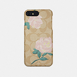 COACH F33710 Signature Rose Print Iphone 7 Plus Case IVORY/BLUSH