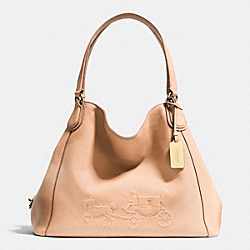 COACH F33728 Embossed Horse And Carriage Edie Shoulder Bag In Pebble Leather LIAPR