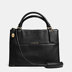 COACH F33732 Small Turnlock Borough Bag In Pebble Leather  LIGHT GOLD/BLACK