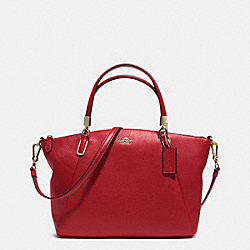 COACH F33733 - SMALL KELSEY CROSSBODY IN PEBBLE LEATHER  LIGHT GOLD/RED CURRANT