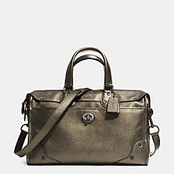 RHYDER SATCHEL IN METALLIC TWO TONE LEATHER - f33739 -  QBBRS