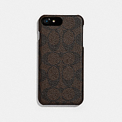 COACH F33750 Signature Iphone 7 Plus Case MAHOGANY