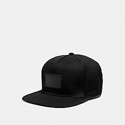 COACH F33774 Flat Brim Hat BLACK