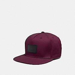 COACH F33774 Flat Brim Hat BURGUNDY