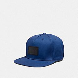 COACH F33774 Flat Brim Hat COBALT