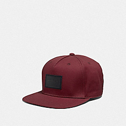 COACH F33774 - FLAT BRIM HAT CURRANT