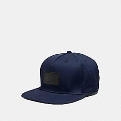 COACH F33774 Flat Brim Hat NAVY