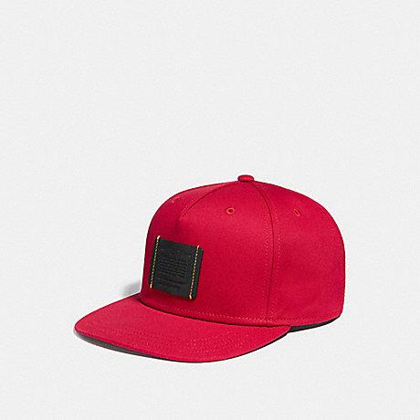 COACH F33774 FLAT BRIM HAT RED