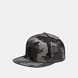COACH F33775 Printed Flat Brim Hat GREY CAMO