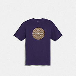 COACH F33780 - COACH SIGNATURE T-SHIRT DARK PURPLE