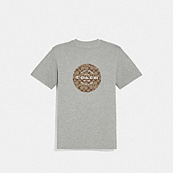 COACH SIGNATURE T-SHIRT - F33780 - HEATHER GREY